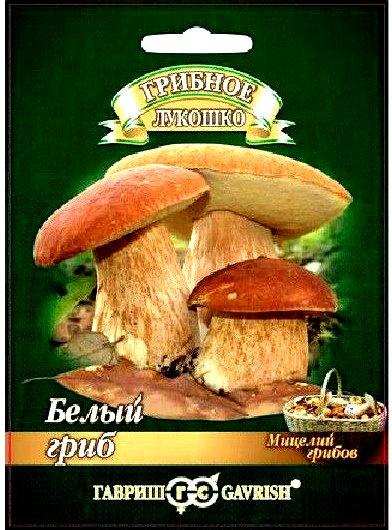 Белый гриб на зерновом субстрате 15мл
